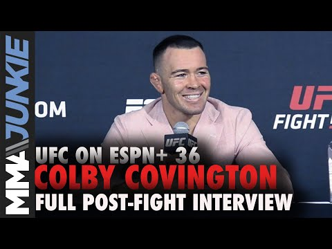 Colby Covington: Jorge Masvidal next after Tyron Woodley   UFC on ESPN+ 36 post-fight interview