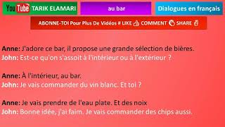 Dialogue en français Niveau A1 50 french conversation au bar