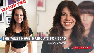 Zapętlaj How to Layer & Frame the Face in Long Hair - The 'MUST HAVE' Haircuts of 2019 - Season 2   Adam Ciaccia