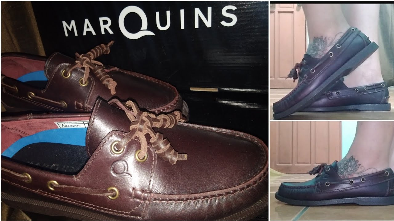 MARQUINS BOAT SHOES AMARETTO BROWN