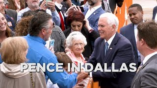 Vice President Mike Pence makes stop in Dallas