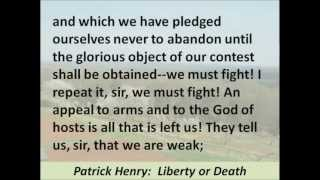 Patrick Henry - Give me Liberty or Give me Death Speech - Hear and Read the Full Text