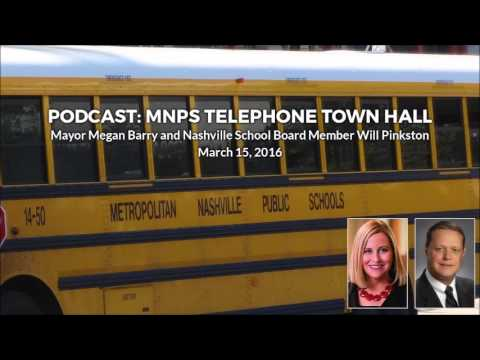 MNPS Telephone Town Hall — March 15, 2016