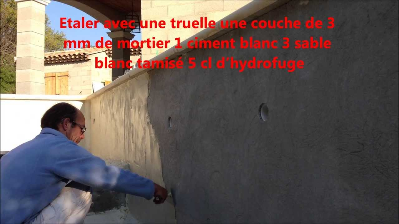 Charmant Comment Enduire Une Piscine Maçonnerie Martinez   YouTube