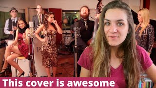 French Girl REACTS to All About That Bass  Postmodern Jukebox (WOW)