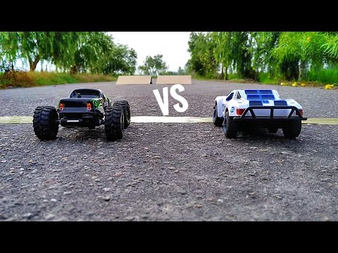 Rc Rock Crawler Vs Rc Muscle Car - Mini Cars Racing