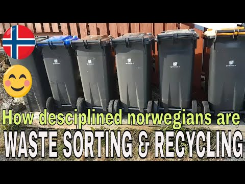 HOW DESCIPLINED ARE NORWEGIANS WHEN IT COME TO WASTE SORTING & RECYCLING😊 SAVE OUR PLANET EARTH.
