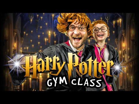 Kids Workout! HARRY POTTER GYM CLASS! Real-Life VIDEO GAME! Kids Workout Videos, DANCE, & P.E. FUN!