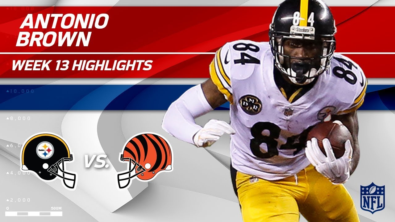 hot sales 3997d 3938e Antonio Brown's Big Night w/ 101 Yards & 1 TD vs. Cincy! | Steelers vs.  Bengals | Wk 13 Player HLs