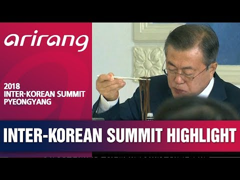 [2018 INTER-KOREAN SUMMIT PYEONGYANG] TWO KOREAN LEADERS HELD LUNCHEON AT PYEONGYANG RESTAURANT