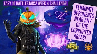 Eliminate opponents near any of the Corrupted Areas GUIDE! Fortnite Battle Royale Season 6 Week 4!