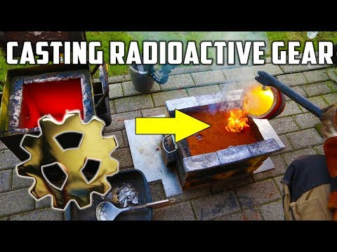 Casting Brass Radioactive Gear - Inspired by The King Of Random !