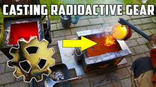 casting brass radioactive gear inspired by the king of random