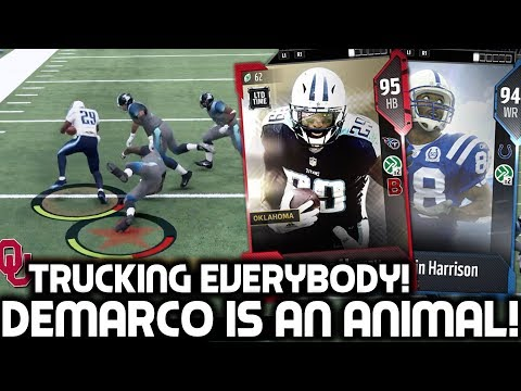 DEMARCO MURRAY RUNS EVERYBODY OVER! TRUCKING EVERYONE IN HIS WAY! Madden 18 Ultimate Team