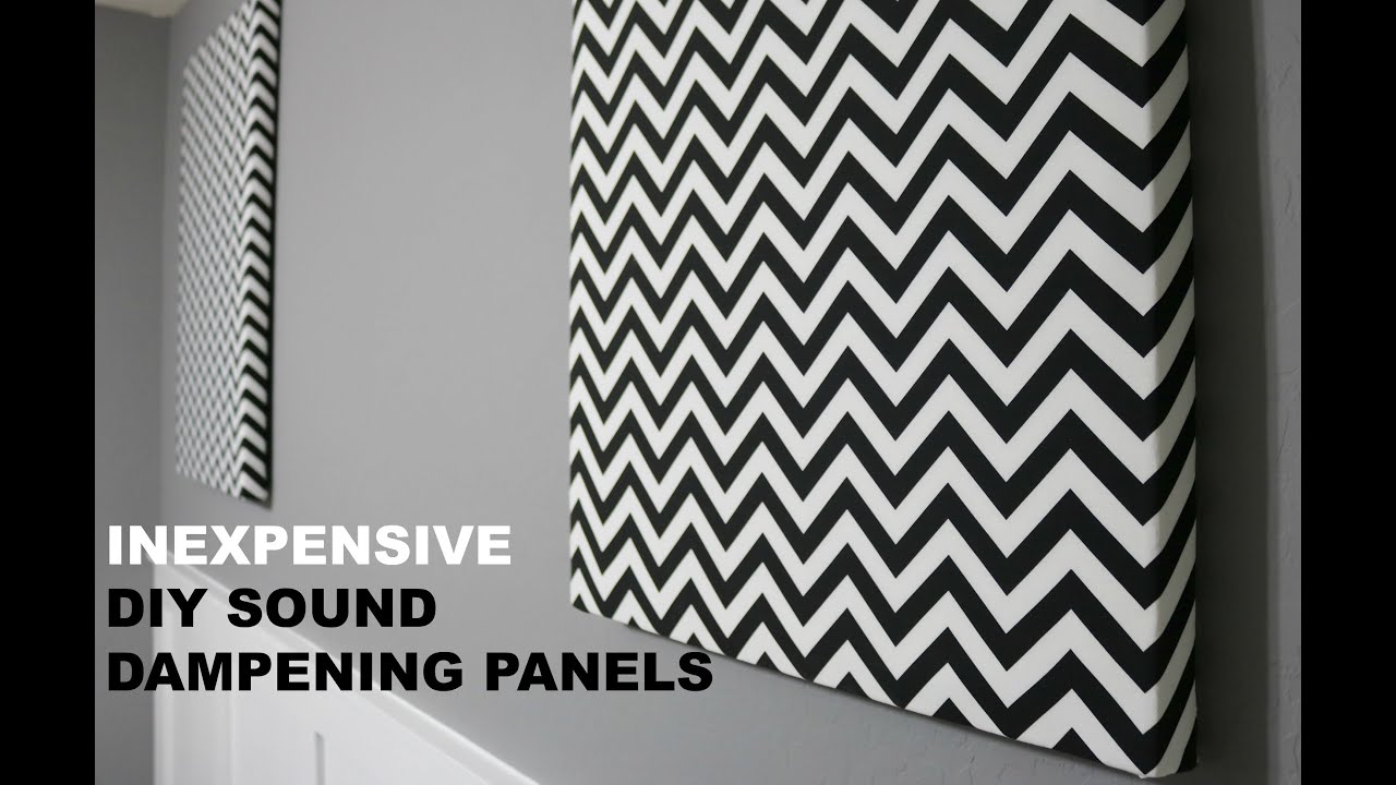 diy acoustic sound panels goodwill youtube