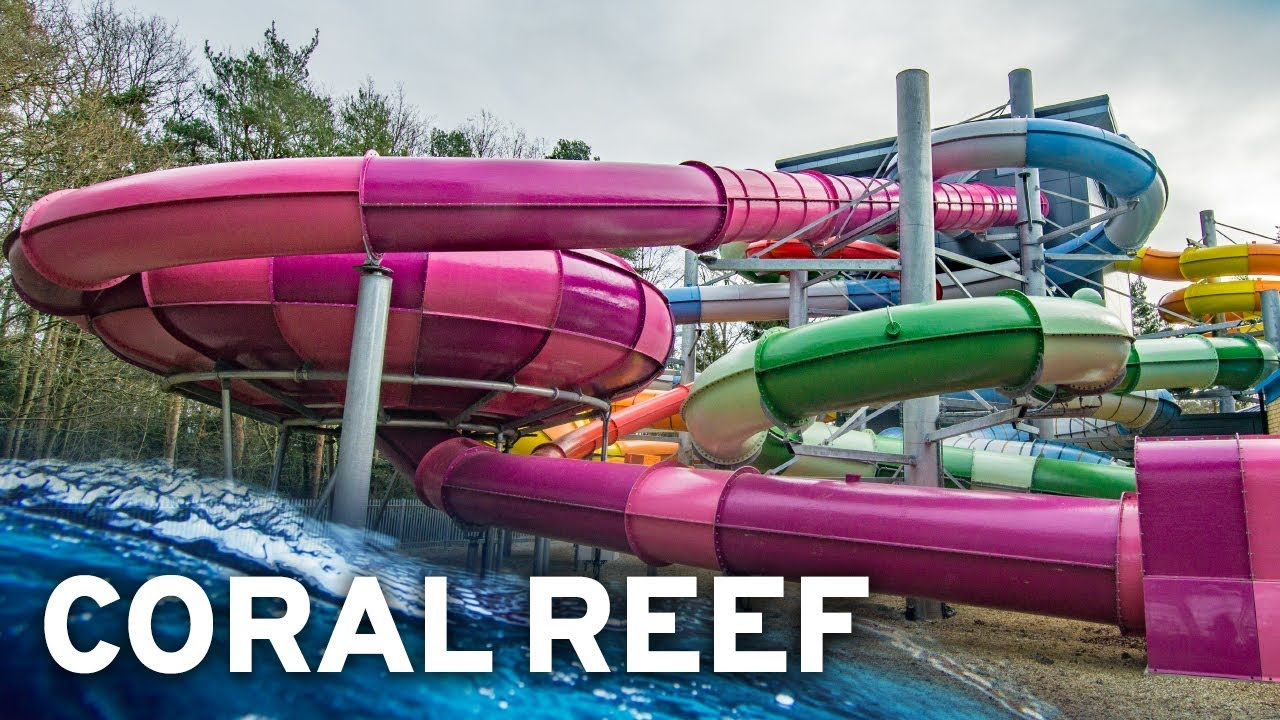 New waterslide tower near london coral reef waterworld - Swimming pools with waterslides in london ...