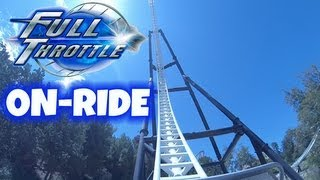 Full Throttle On-ride Front Seat (HD POV) Six Flags Magic Mountain