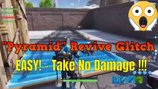 Fortnite: Pyramid Revive Glitch - Take No Damage While Reviving Team!!! - glitches v7.30 - ps4 -NEW!