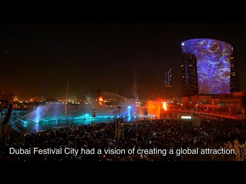 Projection Mapping with Panasonic Projector - Dubai Festival City