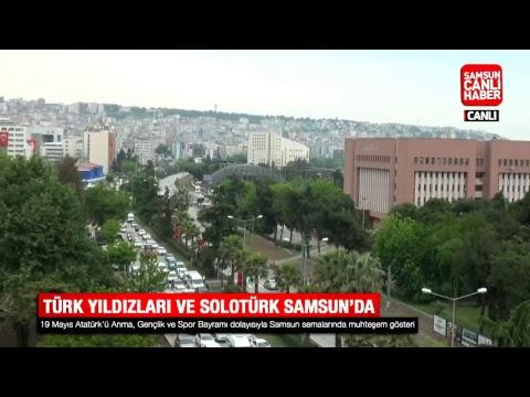 Samsun'da Türk Yıldızları ve SOLOTÜRK uçuş gösterisi
