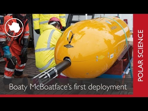 Boaty McBoatface's first Antarctic dive