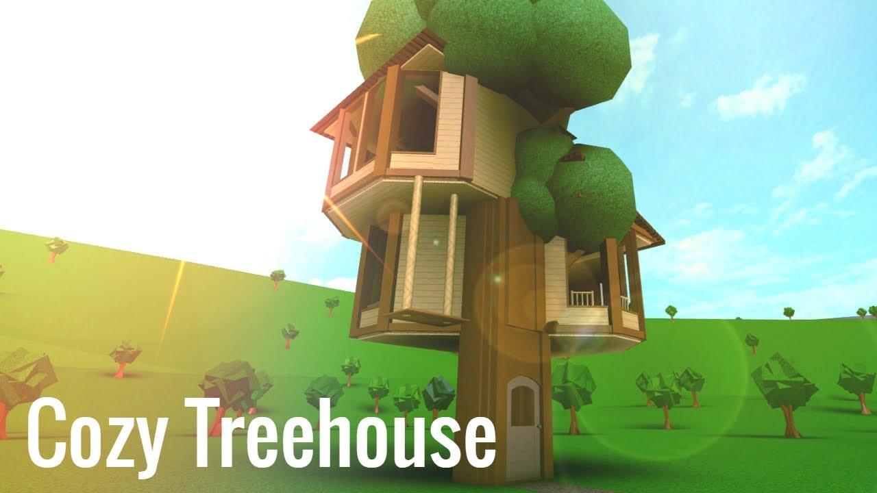 Roblox Bloxburg Cozy Treehouse Youtube