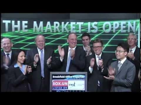 Brookfield Canada Office Properties (BOX.UN:TSX) Opens Toronto Stock Exchange, July 30, 2012