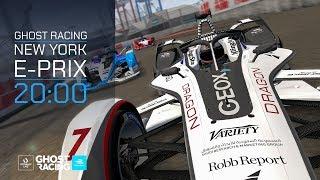 Virtually Live Ghost Racing: Formula E Stream bei der Esport Factory zum Formel E e-Prix in New York