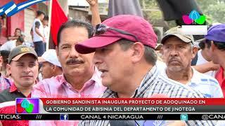 Gobierno sandinista inaugura proyecto de adoquinado en la comu…