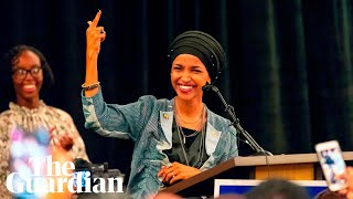 Ilhan Omar reacts to becoming the first Somali American in Congress