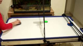 Air Hockey Robot Project (a 3D printer hack) by JJROBOTS