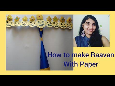 DIY Paper Ravana for Dussehra at home /Easy Ravana / Dussehra crafts