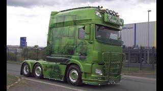 Trucker Treffen Hermsdorf 2018 die Ankunft mit DAF XF Longline