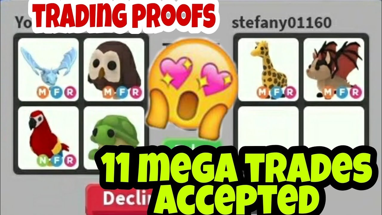11 Mega Trades Accepted In Adopt Trading And Giveaway