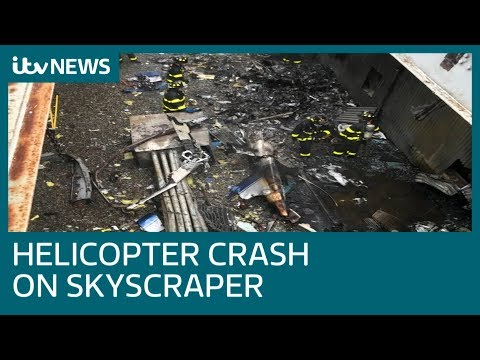 Pilot killed in helicopter crash on Manhattan skyscraper | ITV News