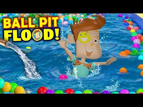 OUR BALL PIT FLOODED!  Killer Washer Machine + Chick-Fil-A Menace Shawn (FUNnel Vision Flood Vlog)