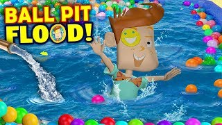 OUR BALL PIT FLOODED! Crazy Washer Machine + Chick-Fil-A No Li…