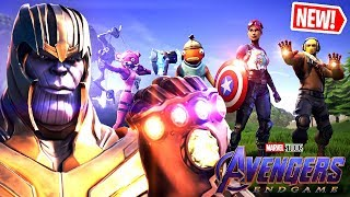 DEFEATING THANOS in the *NEW* AVENGERS X FORTNITE ENDGAME LTM!! (ft. BLACK WIDOW SKIN GAMEPLAY)