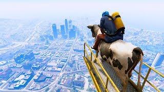 GTA 5 Riding Animals Fall #2 - Funny Moments