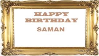 Saman   Birthday Postcards & Postales - Happy Birthday