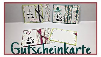 STAMPIN`UP! GUTSCHEINKARTE GEBURTSTAGSKARTE PARTY-PANDAS SALE-A-BRATION 2018