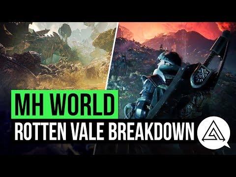 Monster Hunter World | New Rotten Vale Map Gameplay Breakdown