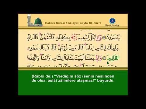 Kur'an-ı Kerim Bakara Süresi cüz 1 sayfa 18, Davut Kaya
