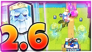 UNDEFEATED! - 2.6 ROYAL GHOST *CYCLE* - Clash Royale cycle Deck