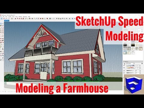 Modeling a Red Farm House - SketchUp Speed Modeling - 동영상