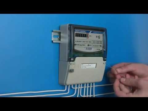 Обучающее видео подключения трехфазного однотарифного счетчика электроэнергии ЦЭ6803В