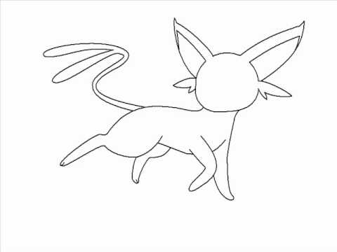 How To Draw Espeon Using Paint Pokemon Youtube