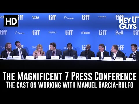 The Magnificent Cast on Working with Manuel Garcia-Rulfo - The Magnificent Seven (TIFF 2016)
