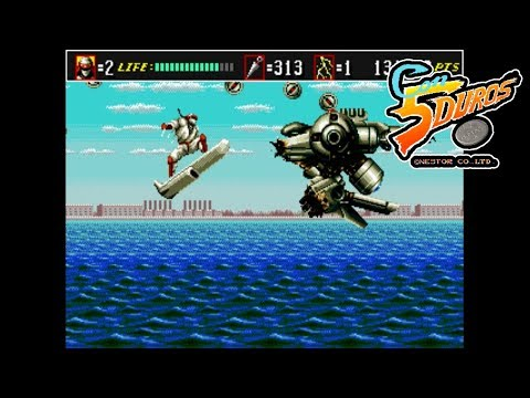 "SHINOBI III: RETURN OF THE NINJA MASTER (MEGAPLAY) - ""CON 5 DUROS"" Episodio 582 (1cc)"