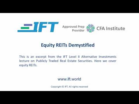 Level II CFA: Equity REITs Demystified